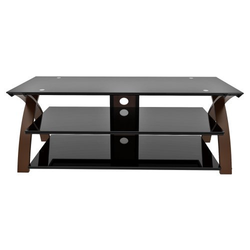 Z-Line Willow TV Stand with Optional Mounting Kit - Warm Espresso