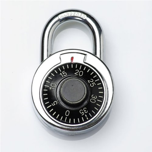"""Combination Lock 1.77"""" Wide Stainless Steel Body Combination Security Lock by MHG"""