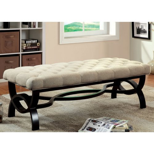 Furniture of America Pulermo Button-Tufted Bench