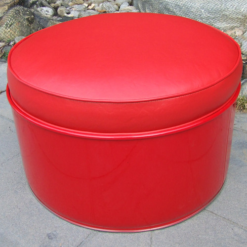 Drum Works Furniture Ottoman with Cushion