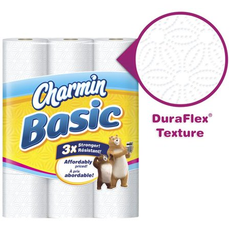 Charmin Basic Toilet Paper Double Rolls, 264 sheets, 24 count Home ...