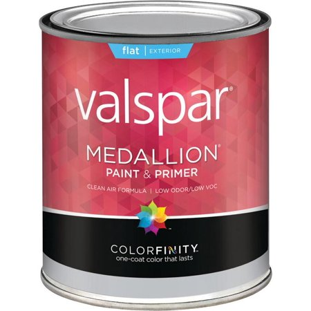 Valspar Brand 1 Quart Flat Clear Base Medallion Exterior Latex House Paint  27-4