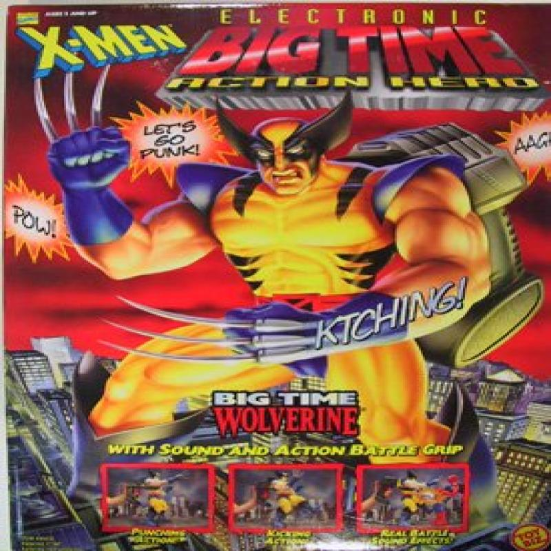 """Marvel Comics X-Men 13"""" Electronic Big Time Action Hero Wolverine with Sound and Action Battle Grip by"""