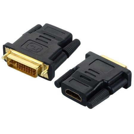 DVI-I 24+5 Pin Male to HDMI Female M-F Adapter Converter for HDTV LCD Monitor
