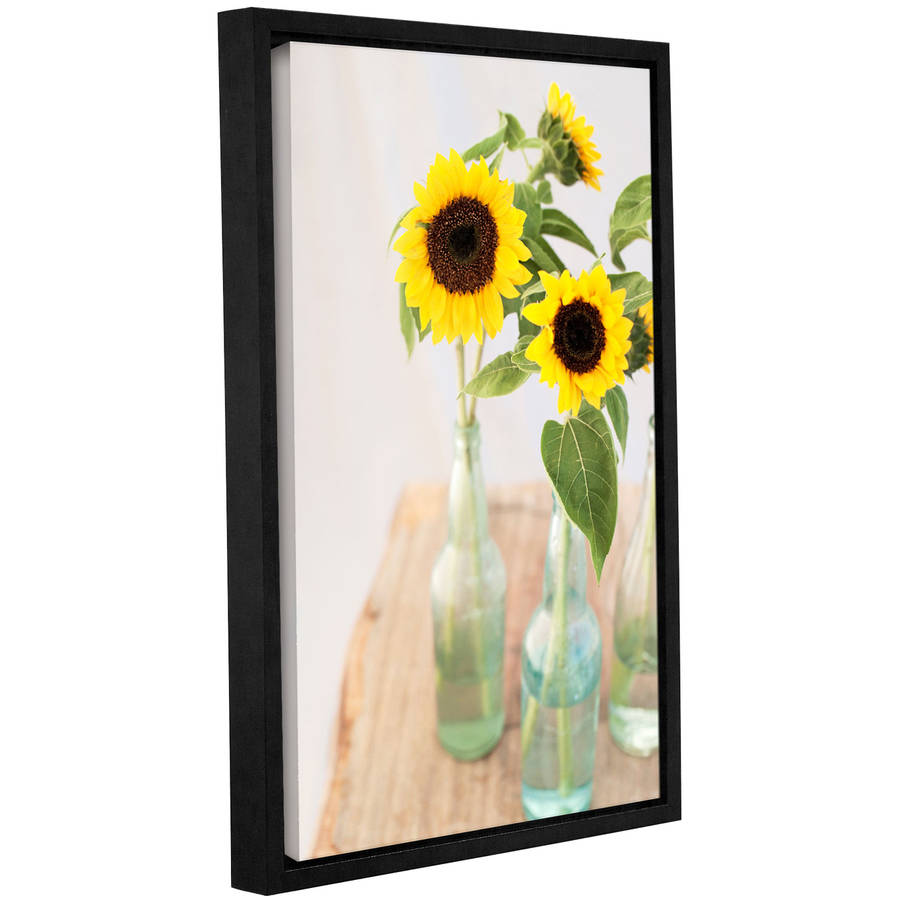 "ArtWall Elena Ray ""Sunflowers In A Bottle"" Gallery-wrapped Floater-framed Canvas"