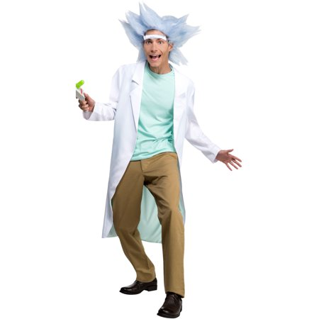 Rick And Morty Deluxe Rick Adult Costume](Rick And Morty Halloween Episode)