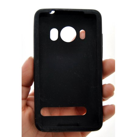 NEW Genuine HTC EVO 4G Phone Gel Skin Case BLACK sprint CZH1980R glove cover OEM (Htc Evos)