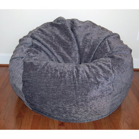 Ahh Products Grey Chenille Washable 36-inch Bean Bag Chair