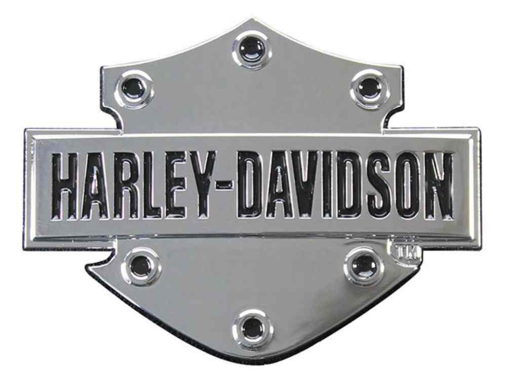 Harley-Davidson Bar & Shield 3D Chrome Decal, XS Size 2.5 x 1.75 inches DC200061, Harley Davidson by Harley-Davidson