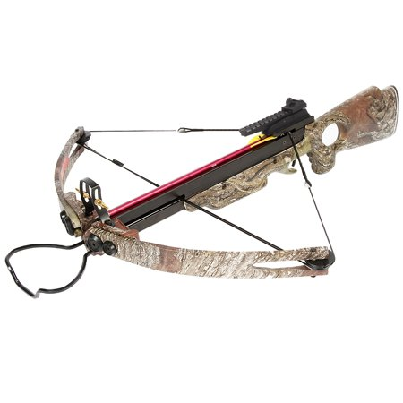 150 lb Black / Wood / Camouflage Hunting Compound Crossbow Archery Bow +Rail Lube +8 Bolts / Arrows 180 175 80 50 thumbnail