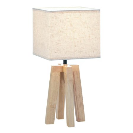 Small Desk Lamp Geo Wooden For Bedroom Living Room Side Table Lamps