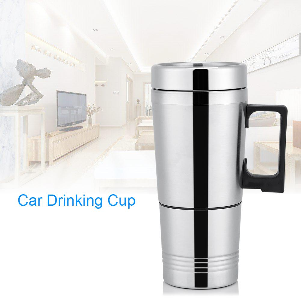 24V Car Heating Cup,12V//24V 300ml Car Electric Coffee Tea Water Mug Safe to Drink and Durable Vehicle Heating Drinking Cup Bottle