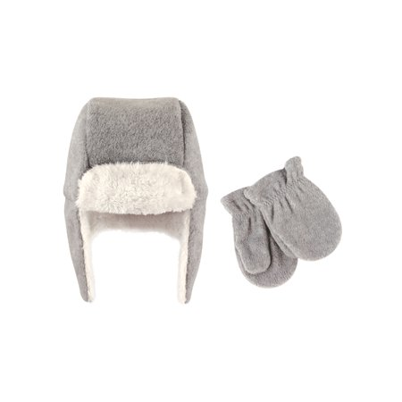 Fleece Baby Patterns - Hudson Baby Boy Traper Fleece Hat & Mittens 2pc Set