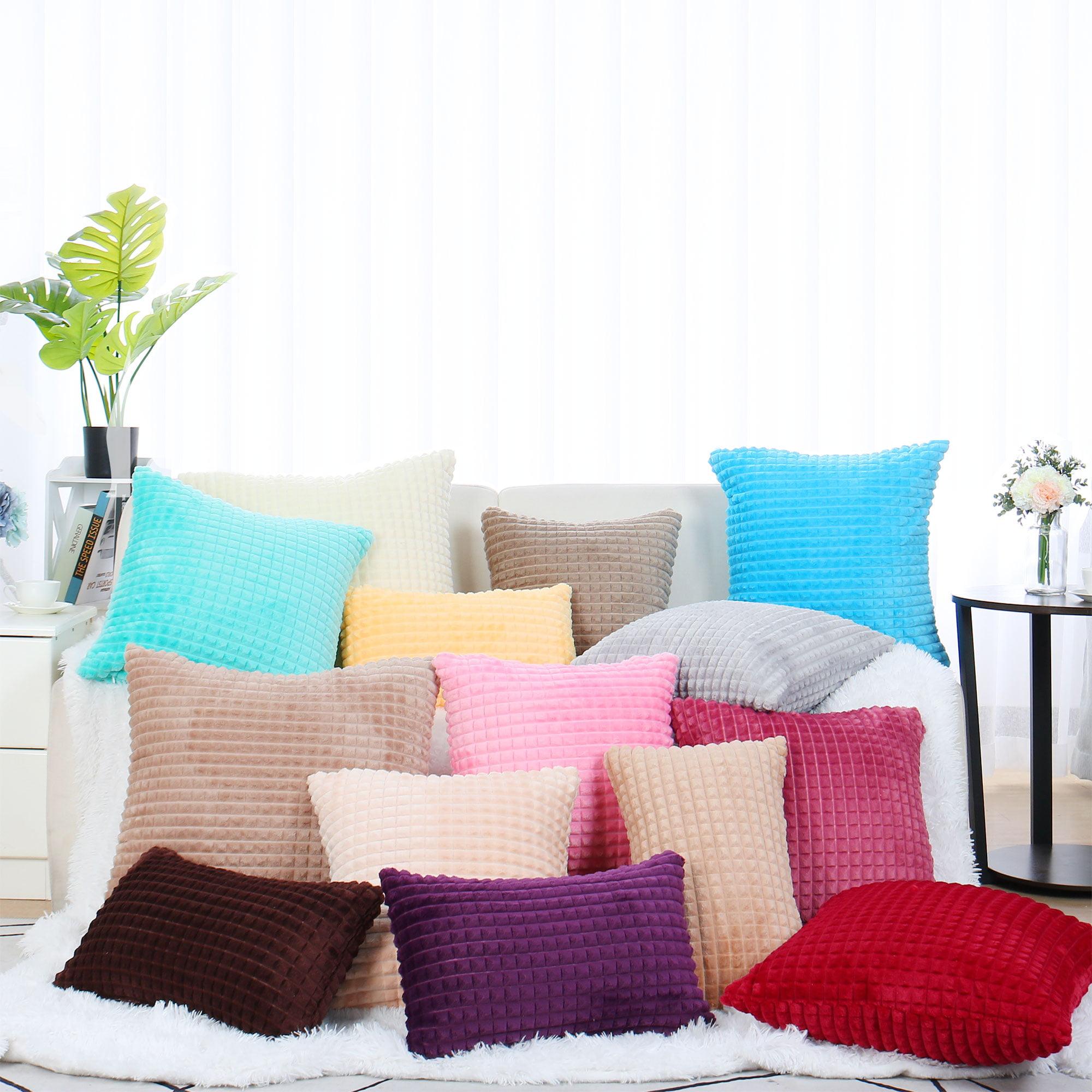 Plush Throw Pillow Case Faux Fur Cushion Cover Deluxe Home Decorative for Sofa Couch Bed Car (12 x 20 Inch 30 x 50cm, Li - image 8 de 8