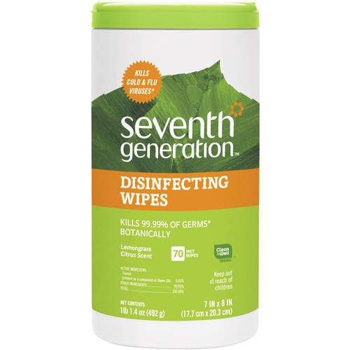 Seventh Generation Botanical Disinfecting Multi-Surface Wipes, 70 ct