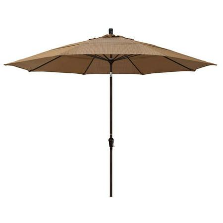 California Umbrella Sunset Series Patio Market Umbrella in Olefin with Aluminum Pole Aluminum Ribs Auto Tilt Crank Lift