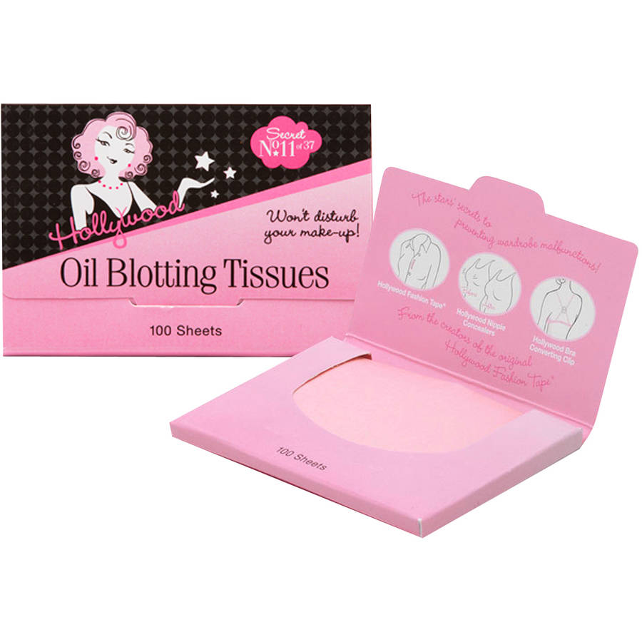 Hollywood Oil Blotting Tissues, 100 sheets