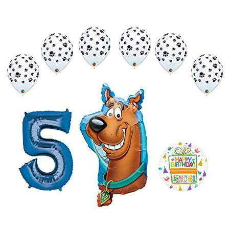 Mayflower Products Scooby Doo 5th Birthday Party Supplies Balloon Bouquet - Scooby Doo Pinata