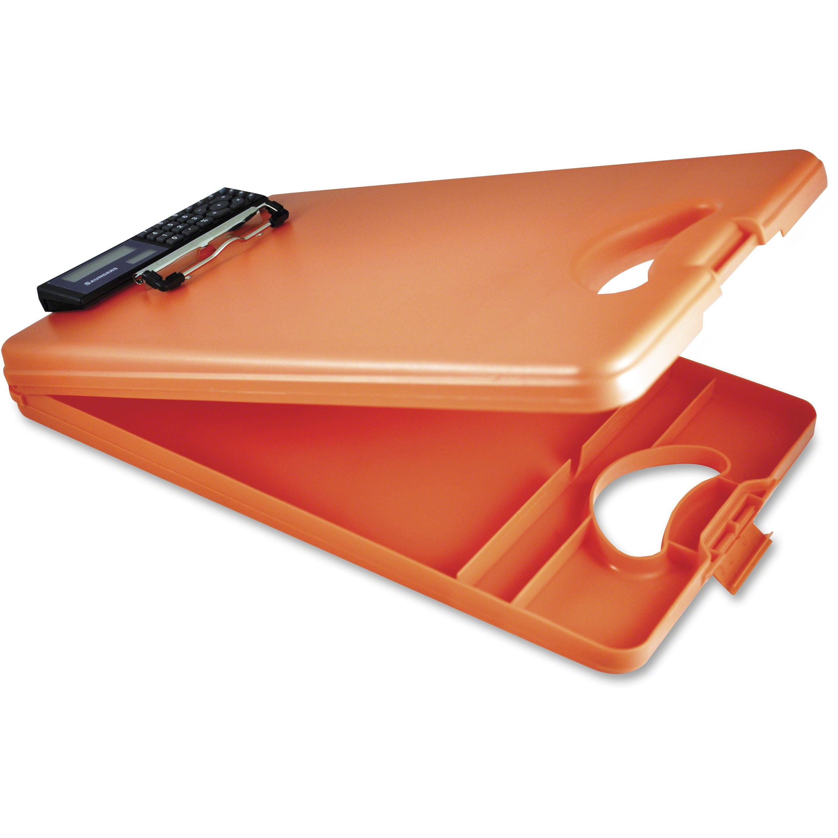 Saunders, SAU00543, Deskmate II Storage Clipboard, 1 Each, Tangerine