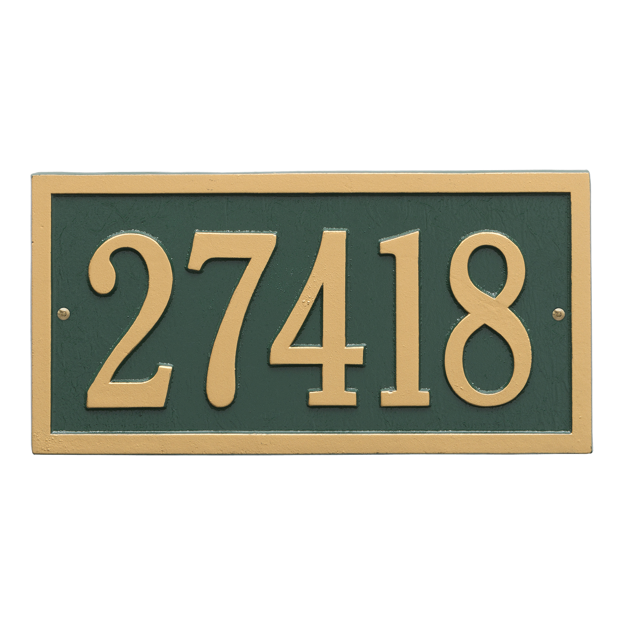 Personalized Bismark 1-Line Standard Wall Plaque in Green/Gold