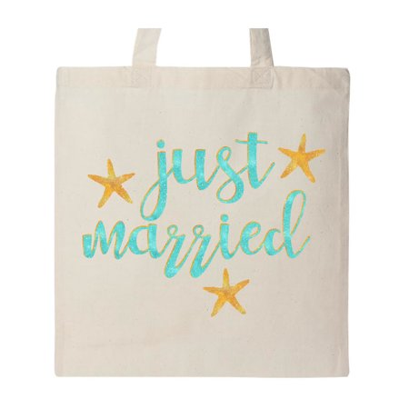 Starfish Just Married Tote Bag