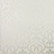 Brewster 2542-20755 Venus Pewter Metallic Mini Damask Wallpaper - Grey