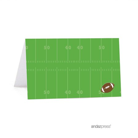 Football Party Table - Birthday Printable Table Tent Place Cards, Football Touchdown! Party, 20-Pack