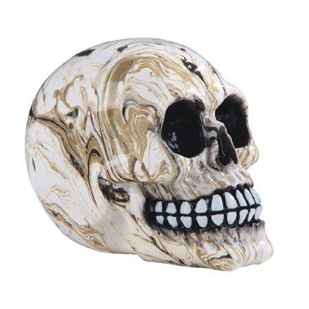 Art Marble 21 Halloween (Marble Colored Human Skull Figurine Skeleton Halloween Decoration Skulls)