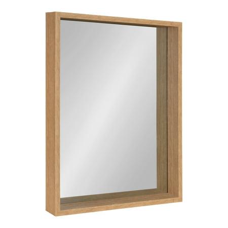Kate and Laurel Rockwood Framed Wall Mirror, 23x29, Natural Light Brown