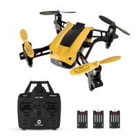 Holy Stone HS150 Mini Nano Racing Drone RC Quadcopter RTF 2.4GHz 6-Axis Gyro with 50KMH High Speed Headless Mode Wind Resistance Includes 3 Batteries
