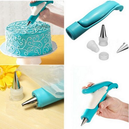 Pastry Icing Piping Bag Nozzle Tips Fondant Cake Sugar Craft Decorating Pen Set ()