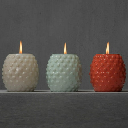 Coral Candles (TIKI® Brand 9 oz. Bubble Votive Candle Glass Seaside Escape Assorted Colors Ivory, Coral or Blue)
