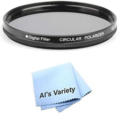 58mm Circular Polarizer Multicoated Glass Filter (CPL) for Sony Cybershot DSC-H10 + Microfiber Cleaning Cloth
