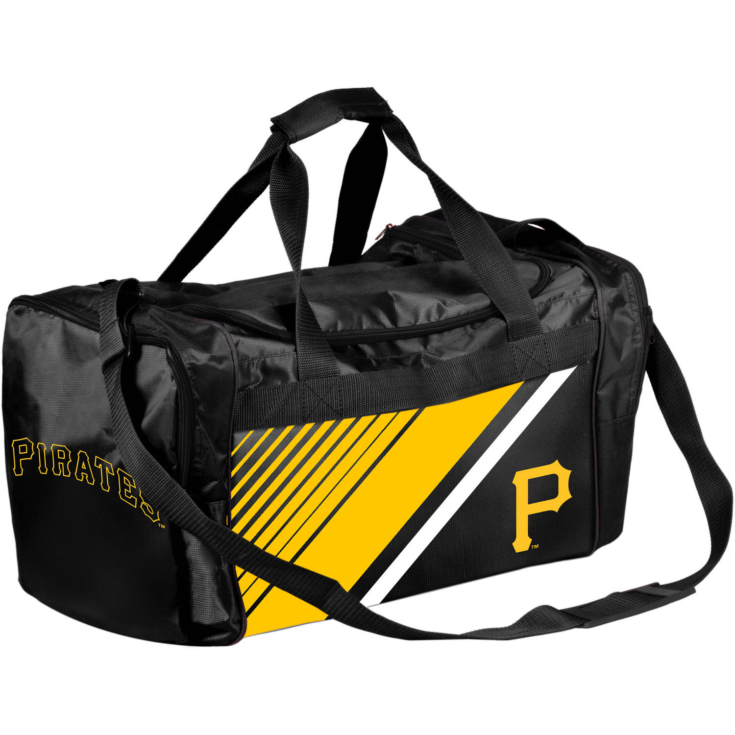 Forever Collectibles - MLB Pittsburgh Pirates Border Stripe Duffle Bag