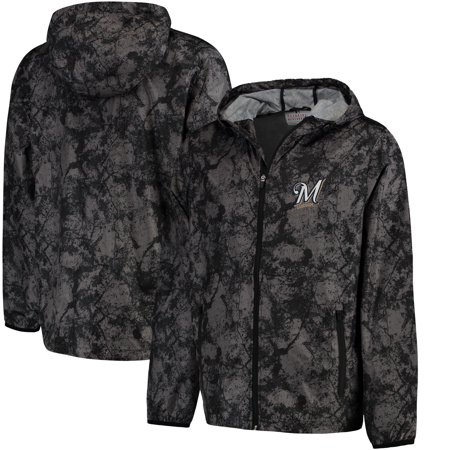 - Milwaukee Brewers G-III Sports by Carl Banks Wind Chill Lightweight Full-Zip Jacket - Charcoal
