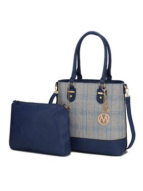 MKF Collection by Mia K. Mya Plaid Tote with Crossbody Bag