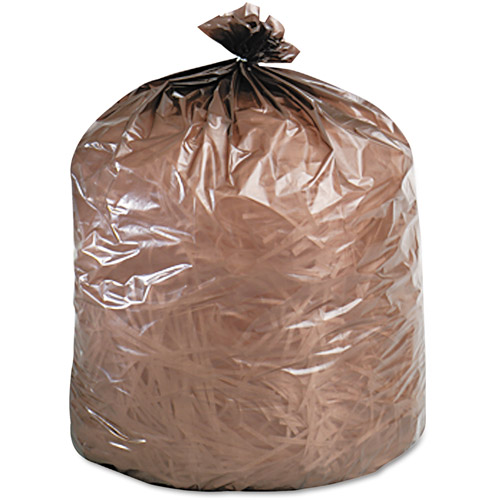 Stout Ecodegradable Brown Extra Heavy Duty Bags, 30 gal, 60 ct