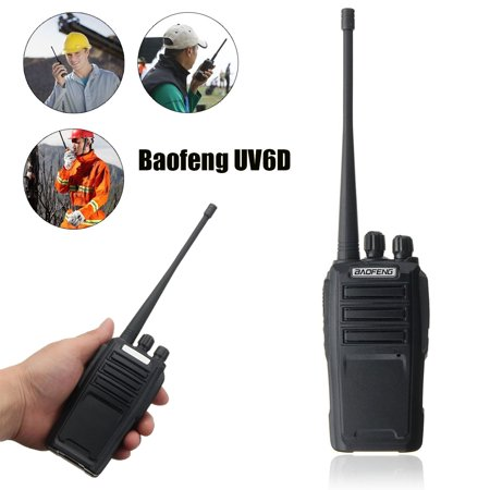 BAOFENG UV-6 walkie Walkie Talkie Two Way Ham Radio Dual Band 136-174/400-480MHZ UHF VHF (Best Dual Band Ham Radio)