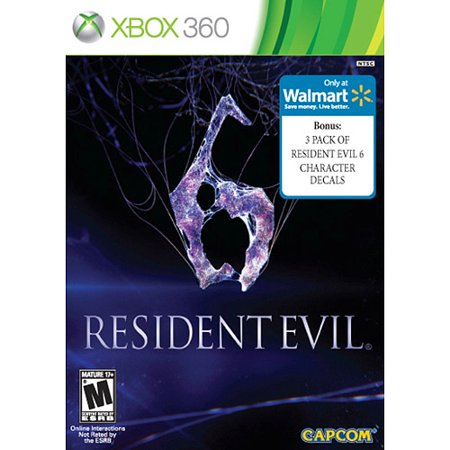 Image of Resident Evil 6 w/ Wal-Mart Exclusive 3-Pack Resident Evil 6 Character Decals (Xbox 360)