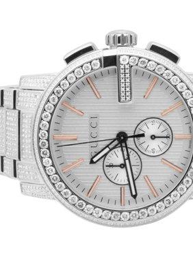 c1f625f8fb4 Product Image Mens G-Chrono 44 MM Diamond Watch YA101201 10.0 Ct. Gucci