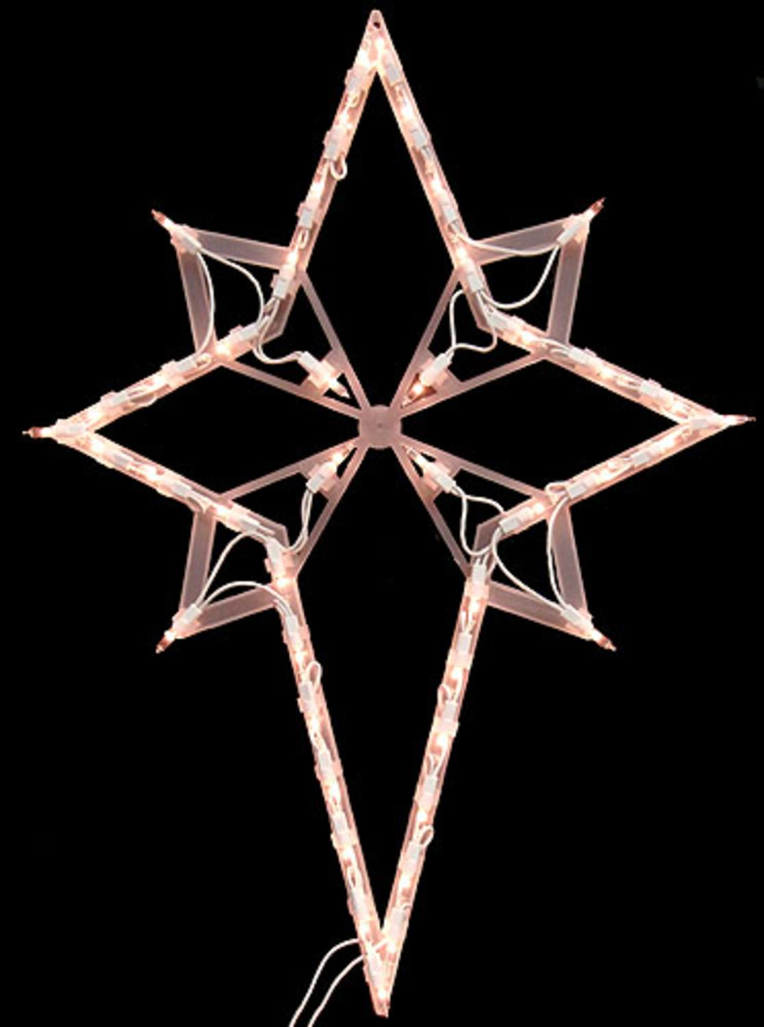 "22"" Lighted Star of Bethlehem Christmas Window Silhouette Decoration - Walmart.com"