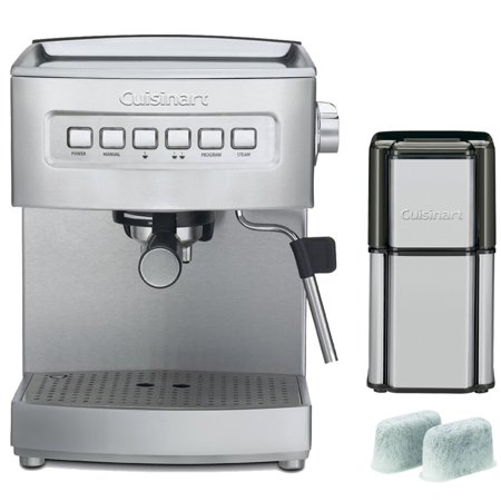 Coffee Maker With Grinder And Water Line : Cuisinart Programmable 15-Bar Espresso Maker, Stainless Steel (EM-200FR) Refurbished with ...