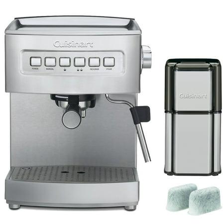 Cuisinart Programmable 15-Bar Espresso Maker, Stainless Steel (EM-200FR) Refurbished with ...