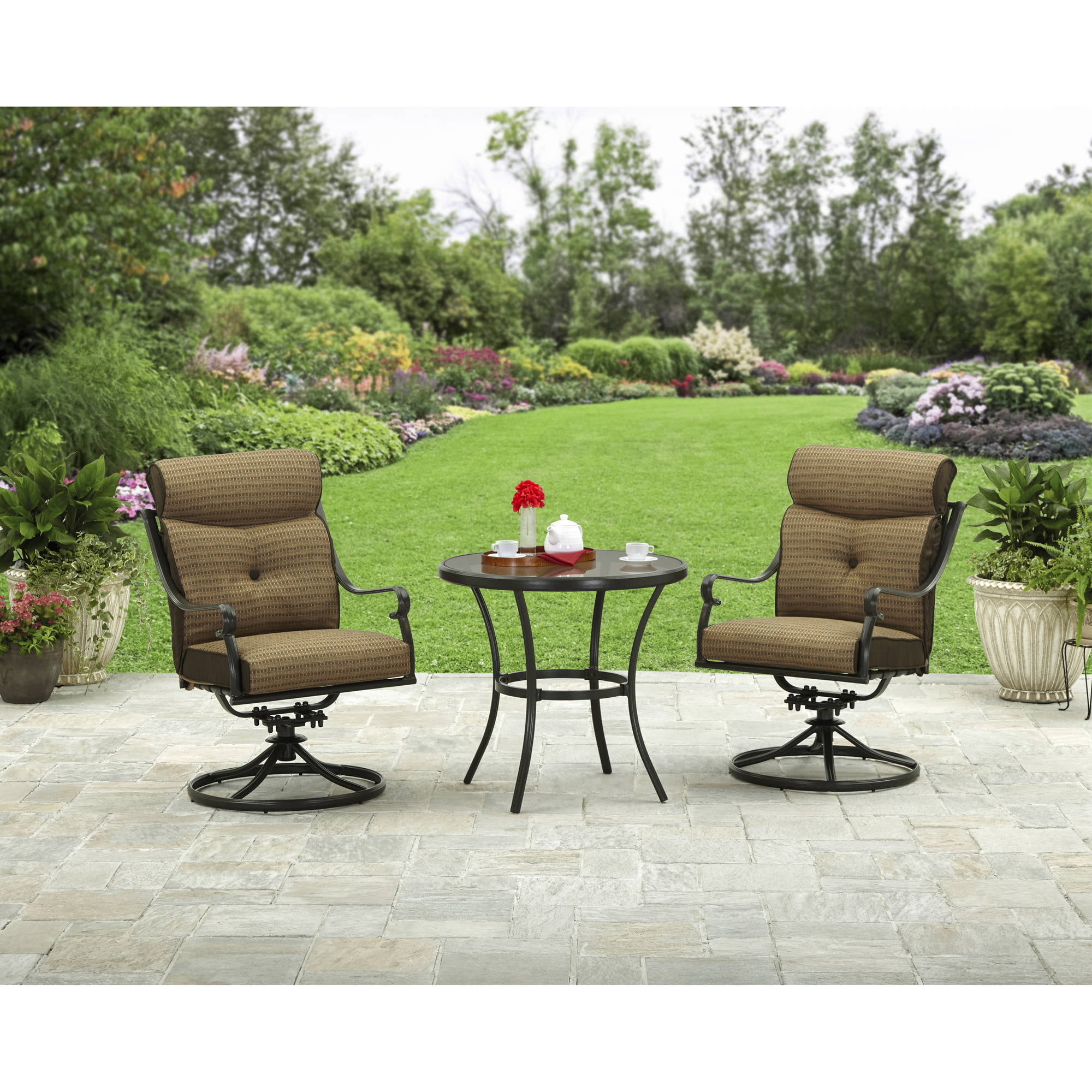 Better Homes and Gardens Bailey Ridge 3 Piece Outdoor Bistro Set by Hangzhou Jinshi Hardware Co., Ltd.