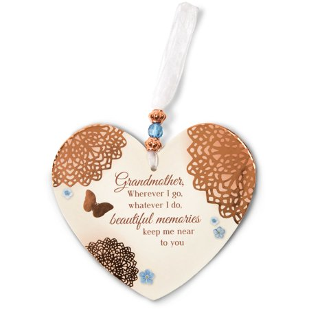Light Your Way Memorial - In Memory Heart Shaped Christmas Ornament 6