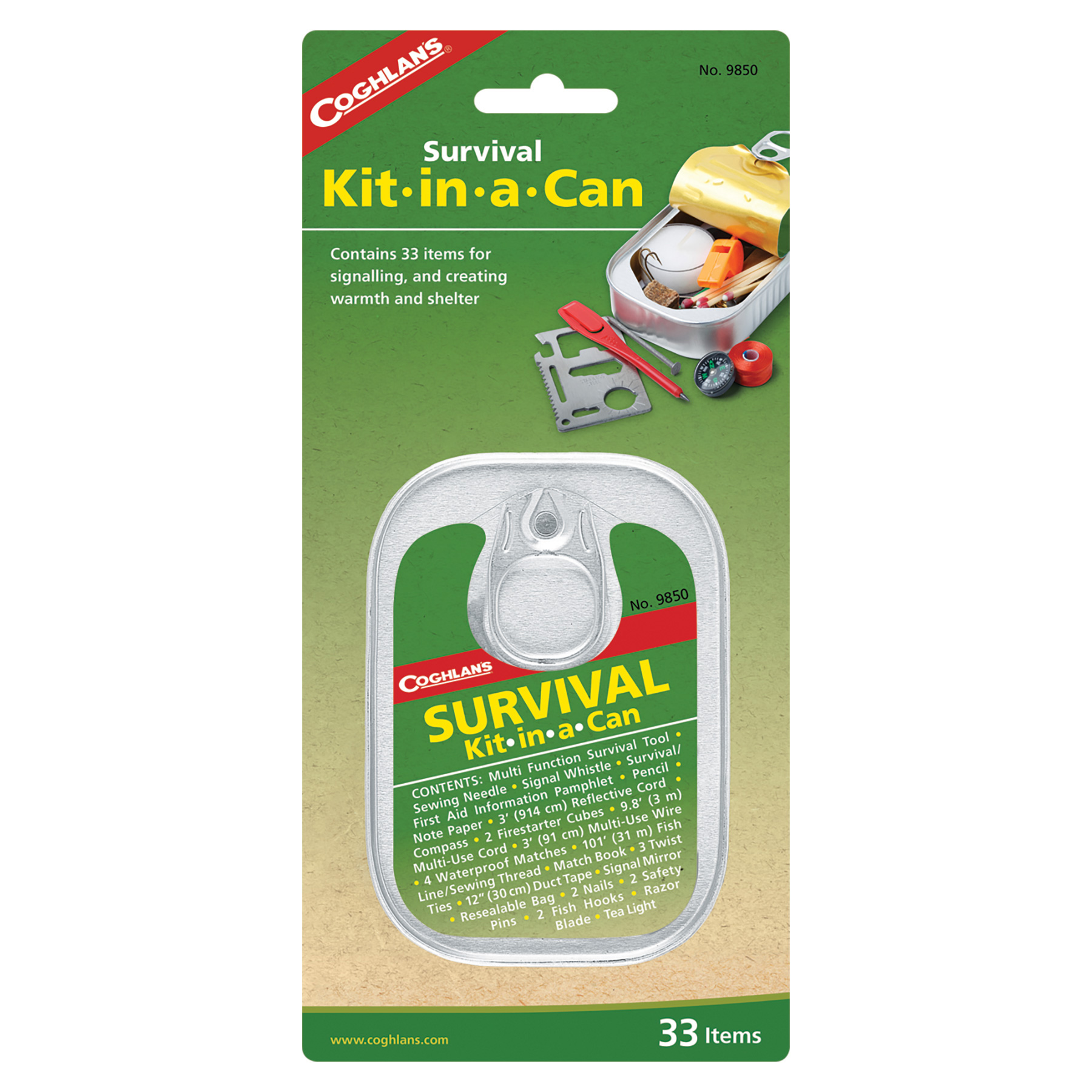 Coghlan's Survival Emergency Kit In A Can For Hiking Or Camping