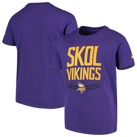 wholesale dealer b5b5d 49521 Minnesota Vikings Nike Youth Hyperlocal Inspiration Performance T-Shirt -  Purple - Walmart.com