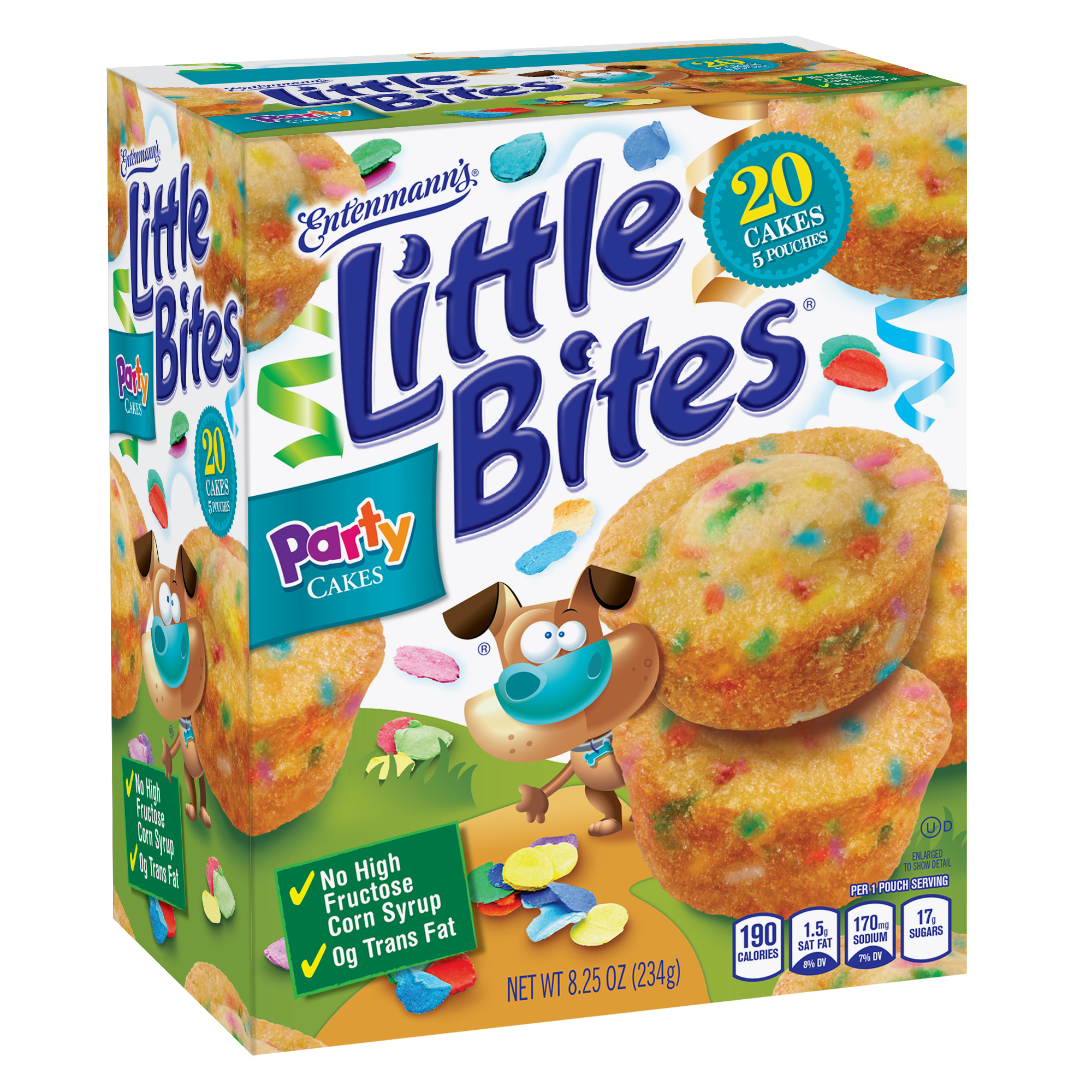 Entenmann's Little Bites Party Cake Mini Muffins, 5 pouches