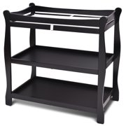 Costway Black Sleigh Style Baby Infant Newborn Changing Table Nursery Diaper Station