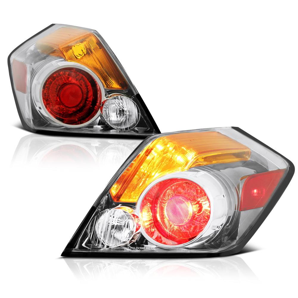 VIPMOTOZ Chrome Housing Tail Light Lamp Assembly For 2007-2012 Nissan Altima 4-Door Sedan